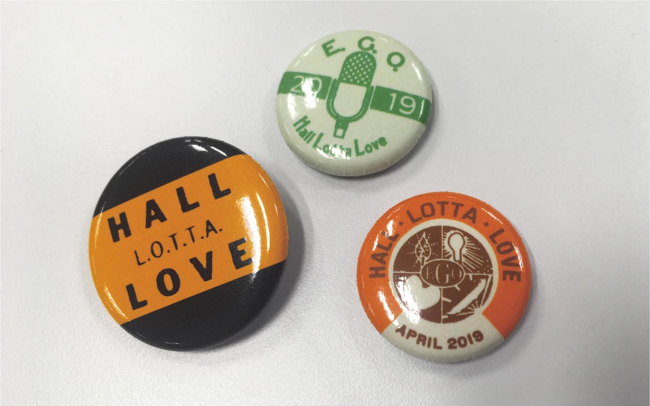 HALL LOTTA LOVE 缶バッジセット