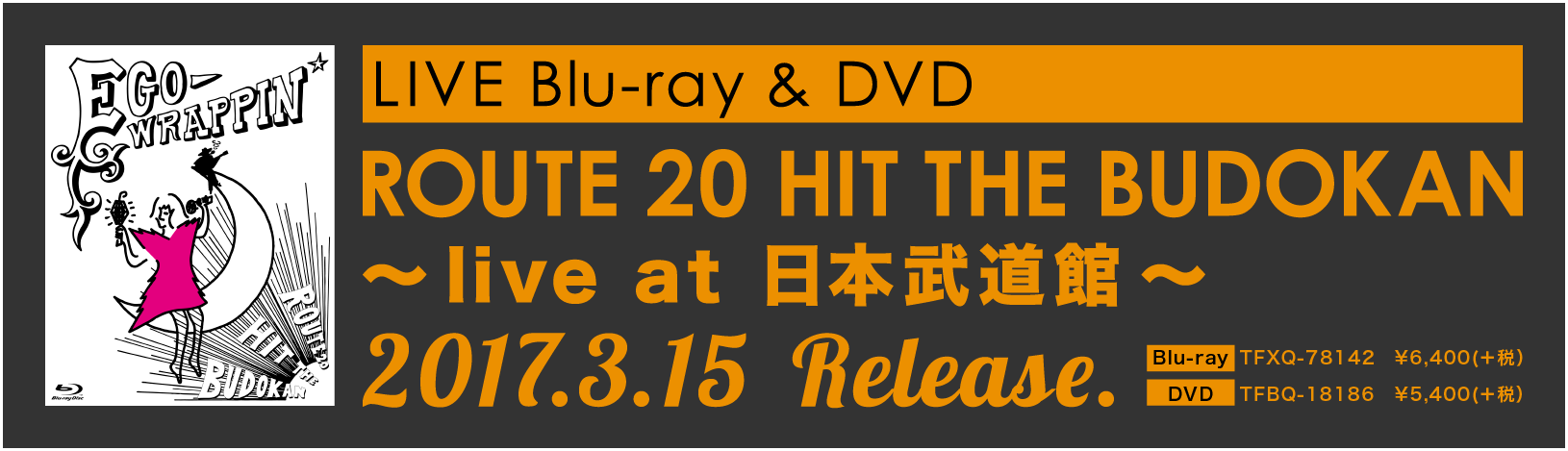 LIVE Blu-ray & DVD / ROUTE 20 HIT THE BUDOKAN ~live at 日本武道館~